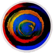 Moving Towards The Light Round Beach Towel