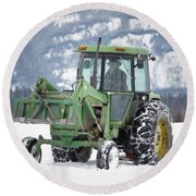 Mr. John Deer Round Beach Towel