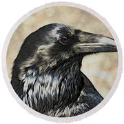 Mr. Raven Round Beach Towel