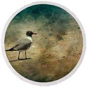 Mr. Seagull Round Beach Towel