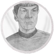 Mr. Spock Round Beach Towel