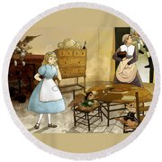 Mrs. Gage's Kitchen Round Beach Towel by Reynold Jay