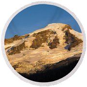 Round Beach Towel featuring the photograph Mt.baker At Sunset  by Yulia Kazansky