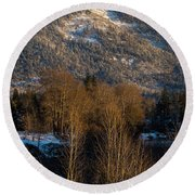 Mt Baldy Near Grants Pass Round Beach Towel by Mick Anderson