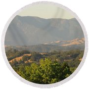 Round Beach Towel featuring the photograph Mt. Cali by Shawn Marlow