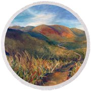 Mt. Diablo Hills Round Beach Towel