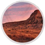 Round Beach Towel featuring the photograph Mt Garfield Sunrise by Ronda Kimbrow