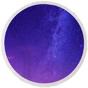 Mt. Hood Milky Way 01 Round Beach Towel by Lori Grimmett