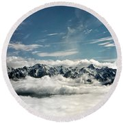 Round Beach Towel featuring the photograph Mt Olympus by Greg Reed