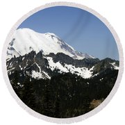 Mt Rainer From Wa-410 Round Beach Towel