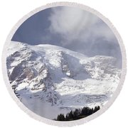 Round Beach Towel featuring the photograph Mt Rainier  by Greg Reed