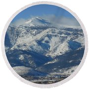 Mt Rose Reno Nevada Round Beach Towel
