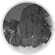 406427-mt. Sill, Bw Round Beach Towel