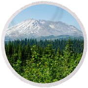 Mt. St. Hellens Round Beach Towel by Tikvah's Hope