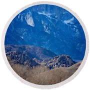 Mt. Whitney And Alabama Hills Round Beach Towel by Eric Tressler