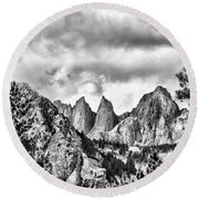 Mt. Whitney Round Beach Towel by Peggy Hughes
