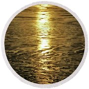 Round Beach Towel featuring the photograph Muddy Reflection by Jeremy Rhoades