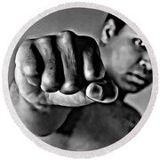 Muhammad Ali Fist Round Beach Towel