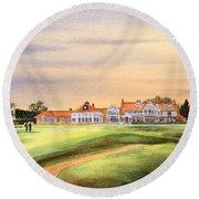 Muirfield Golf Course 18th Green Round Beach Towel
