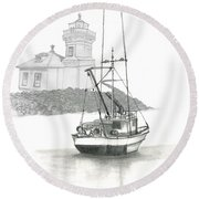Mukilteo Lighthouse Round Beach Towel