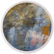Mulberry On Concrete Round Beach Towel