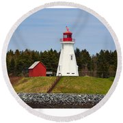 Mulholland Lighthouse Campobello Nb Round Beach Towel
