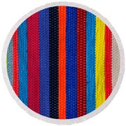 Multicolor Vertical Line Round Beach Towel