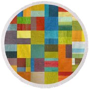 Multiple Exposures Lll Round Beach Towel by Michelle Calkins