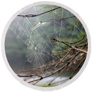 Multiple Webs - Near Round Beach Towel by Kenny Glotfelty