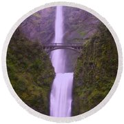 Multnomah In The Drizzling Rain Round Beach Towel
