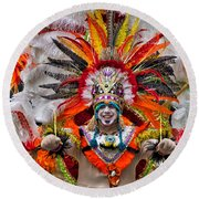 Mummer Wow Round Beach Towel