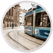 Munich City Traffic Round Beach Towel