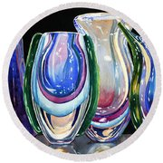 Murano Crystal Round Beach Towel