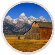 Murphy Barn Round Beach Towel by Greg Norrell