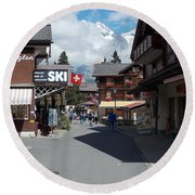 Murren Switzerland Round Beach Towel