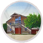 Murrietas Well Winery Round Beach Towel by Mike Robles