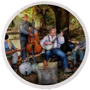 Music Band - The Bands Back Together Again  Round Beach Towel