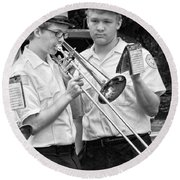 Music - Trombone - A Helping Hand  Round Beach Towel