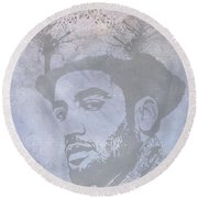 Musical Mind Of Ben Harper Round Beach Towel