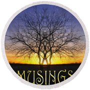 Musings Cover Round Beach Towel