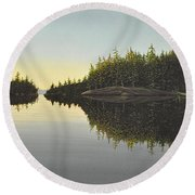 Muskoka Solitude Round Beach Towel