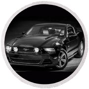 Mustang Gt Round Beach Towel