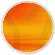 Mute Sunset Round Beach Towel