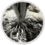 Round Beach Towel featuring the photograph Muted Roots by Clayton Bruster