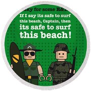 My Apocalypse Now Lego Dialogue Poster Round Beach Towel