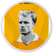 My Bergkamp Soccer Legend Poster Round Beach Towel by Chungkong Art