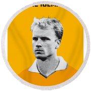 My Bergkamp Soccer Legend Poster Round Beach Towel