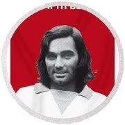 My Best Soccer Legend Poster Round Beach Towel by Chungkong Art