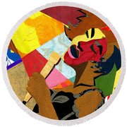 My Favorite Things Round Beach Towel by Everett Spruill