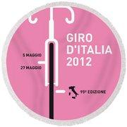 My Giro D' Italia Minimal Poster Round Beach Towel